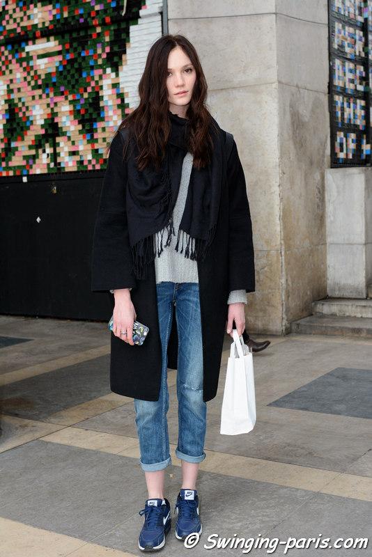 Outside Agnès B show, Paris FW 2016 RtW Fashion Week, March 2016