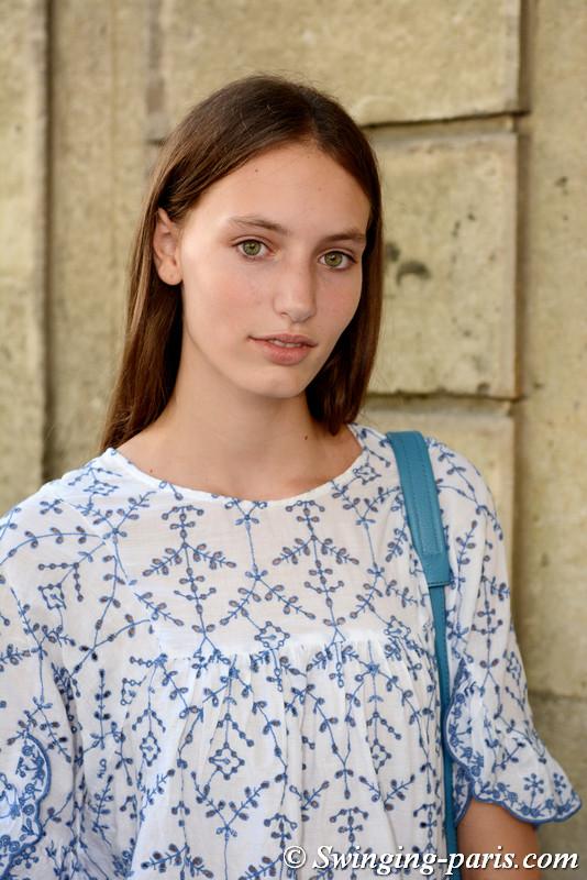 Aurora Talarico outside Valentino show, Paris F/W 2017 Haute Couture Fashion Week, July 2017