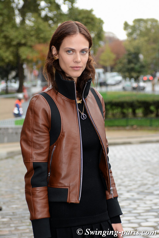 Aymeline Valade before Paco Rabanne show, Paris S/S 2018 RtW Fashion Week, September 2017