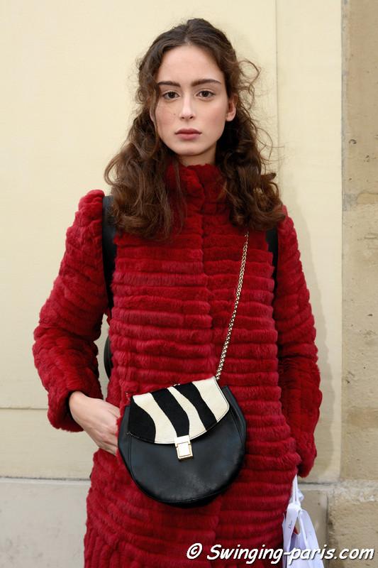 Chiara Corridori leaving Christian Dior show, Paris Haute Couture SS 2017 Fashion Week, January 2017