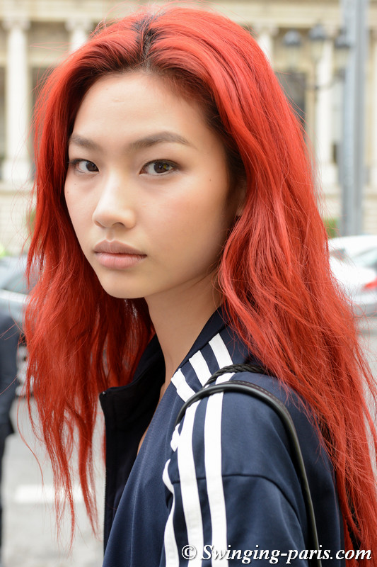 Hoyeon Jung leaving Paco Rabanne show, Paris S/S 2018 RtW Fashion Week, September 2017