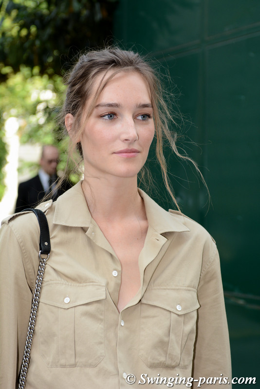 Joséphine Le Tutour leaving Zuhair Murad show, Paris F/W 2017 Haute Couture Fashion Week, July 2017