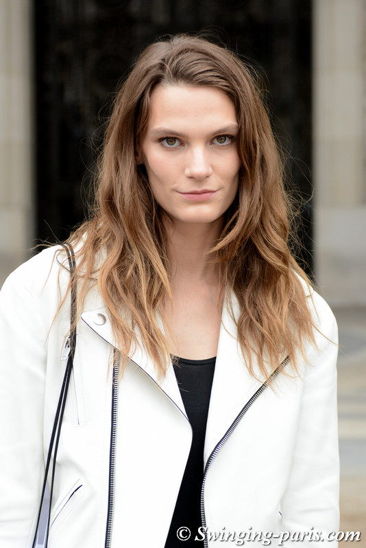 Lena Hardt leaving Paco Rabanne show, Paris S/S 2018 RtW Fashion Week, September 2017