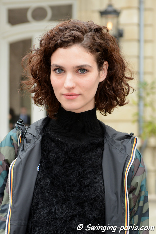 Manon Leloup leaving Vanessa Seward show, Paris F/W 2017 RtW Fashion Week, March 2017