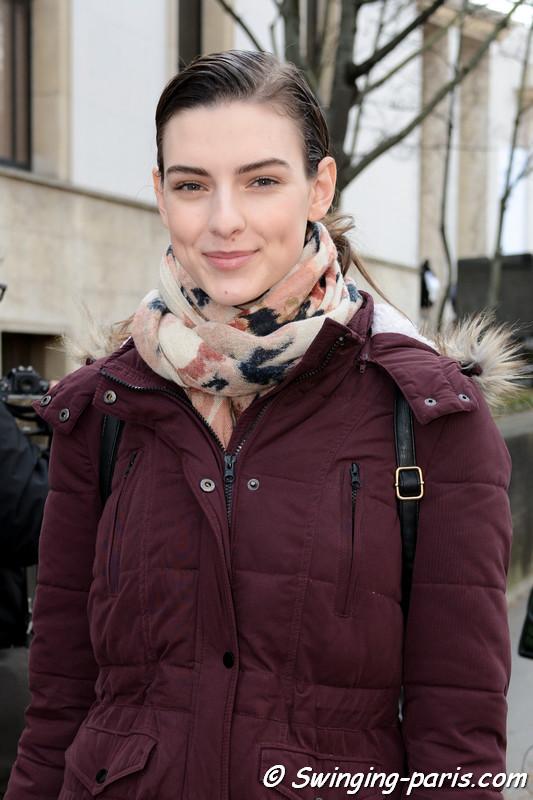 Marie Damian leaving Paco Rabanne show, Paris F/W 2017 RtW Fashion Week, March 2017