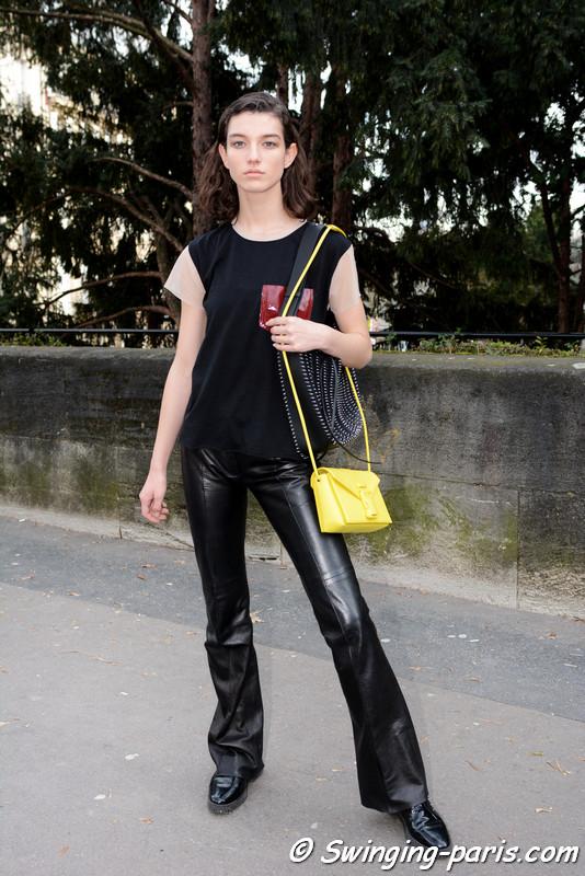 McKenna Hellam outside Paco Rabanne show, Paris F/W 2017 RtW Fashion Week, March 2017