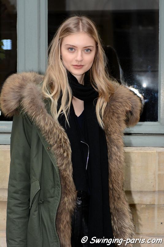 Nastya Kusakina (Настя Кусакина) leaving Alexis Mabille show, Paris Haute Couture SS 2017 Fashion Week, January 2017