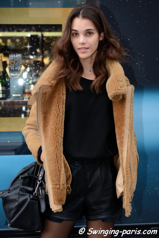 Pauline Hoarau leaving Alexis Mabille show, Paris F/W 2017 RtW Fashion Week, March 2017
