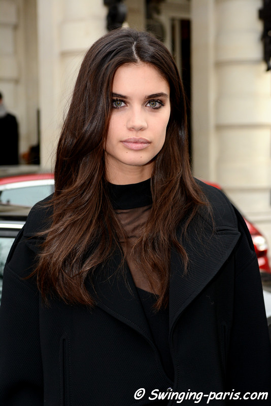 Sara Sampaio leaving Redemption show, Paris F/W 2017 RtW Fashion Week, March 2017