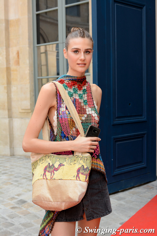Silke Hajunga outside Gyunel show, Paris F/W 2017 Haute Couture Fashion Week, July 2017
