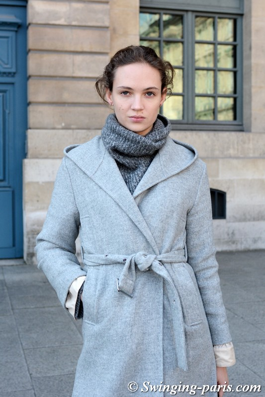 Adrienne Jüliger leaving Lanvin show, Paris F/W 2018 RtW Fashion Week, February 2018