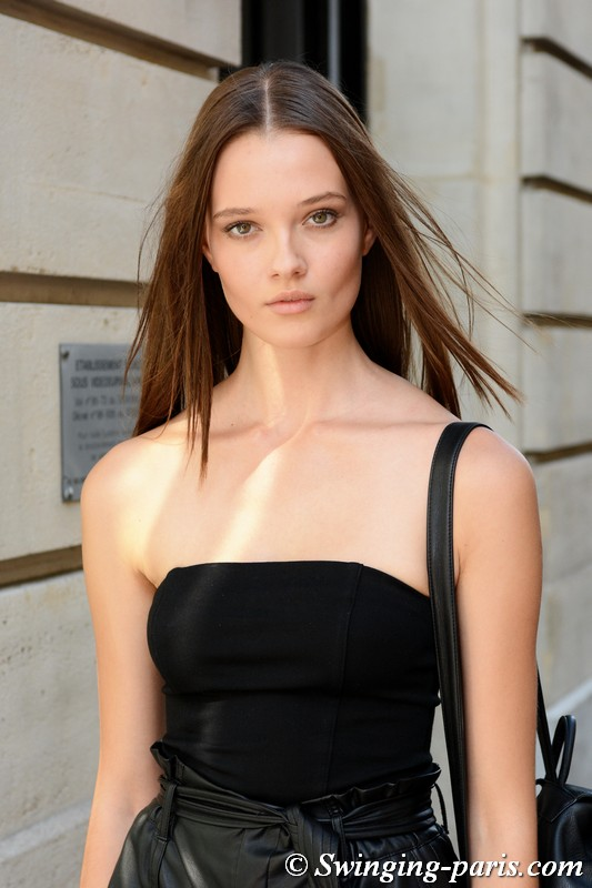 Alicja Tubilewicz leaving Zuhair Murad show, Paris F/W 2018 Haute Couture Fashion Week, July 2018