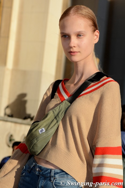 Alina Egorova (Алина Егорова) outside Rochas show, Paris S/S 2019 RtW Fashion Week, September 2018