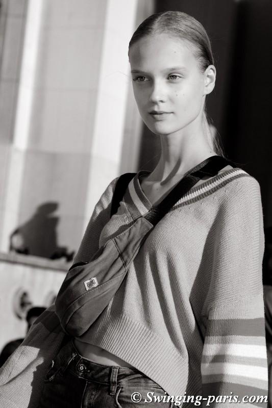 Alina Egorova (Алина Егорова) outside Rochas show, Paris S/S 2019 RtW Fashion Week, September 2018