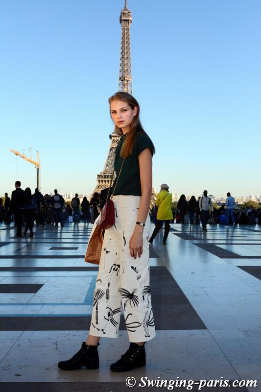 Deirdre Fírinne outside Rochas show, Paris S/S 2019 RtW Fashion Week, September 2018