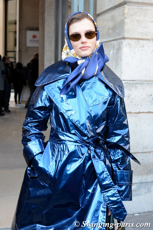 Giedre Dukauskaite leaving Lanvin show, Paris F/W 2018 RtW Fashion Week, February 2018