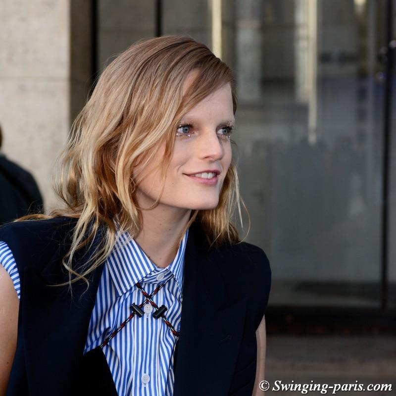 Hanne Gaby Odiele leaving Dries van Noten show, Paris FW 2019 RtW Fashion Week, February 2019