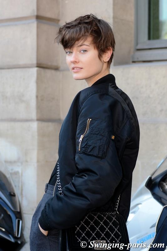 Jac (Monika Jagaciak) leaving Lanvin show, Paris F/W 2018 RtW Fashion Week, February 2018