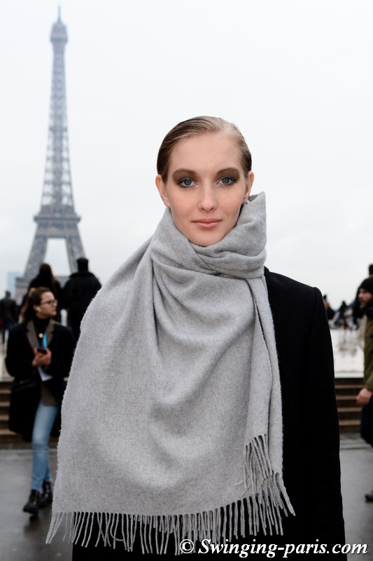 Kateryna Zub outside Elie Saab show, Paris Haute Couture SS 2019 Fashion Week, January 2019