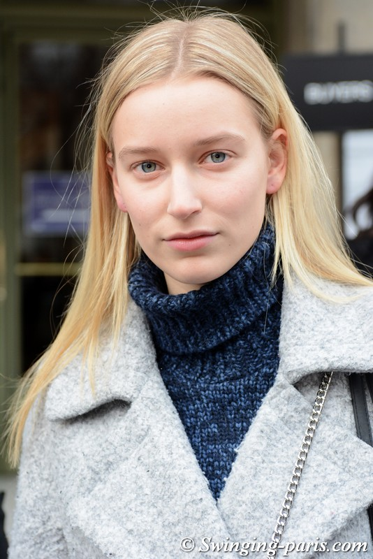 Kylene Oprinsen outside Y/Project show, Paris F/W 2018 RtW Fashion Week, March 2018