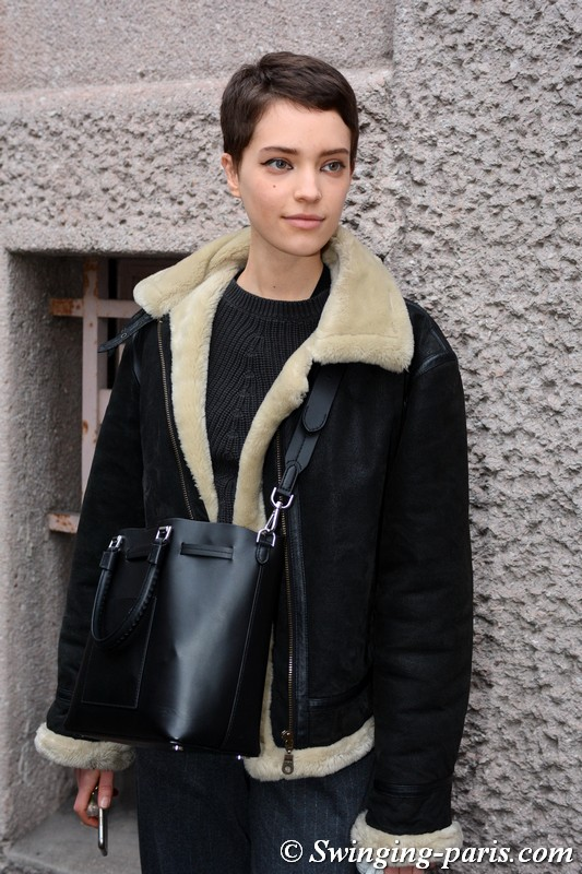 Loane Normand leaving Carven show, Paris F/W 2018 RtW Fashion Week, March 2018
