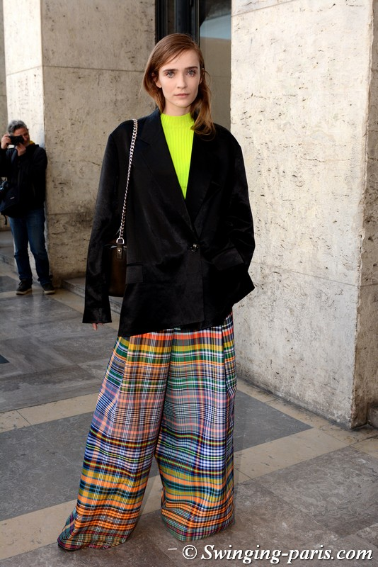 Lynn Palm outside Dries van Noten show, Paris FW 2019 RtW Fashion Week, February 2019