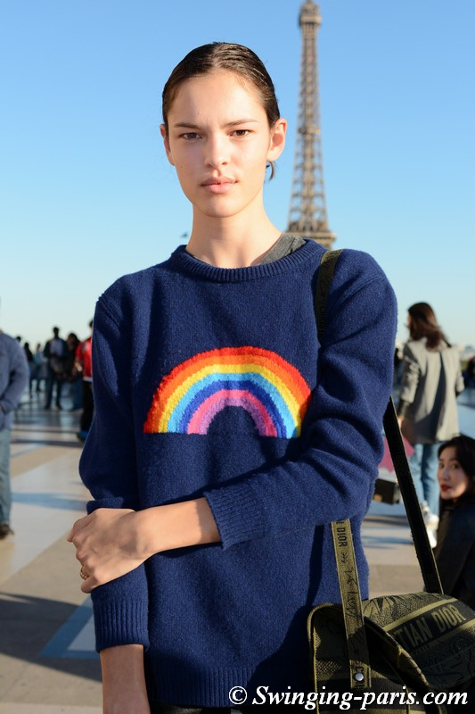Matea Brakus outside Rochas show, Paris S/S 2019 RtW Fashion Week, September 2018