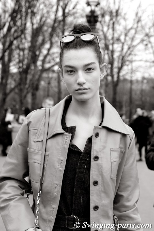 McKenna Hellam outside Chanel show, Paris F/W 2018 RtW Fashion Week, March 2018