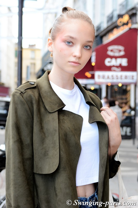 Milena Ioanna outside Valentin Yudashkin show, Paris S/S 2019 RtW Fashion Week, October 2018