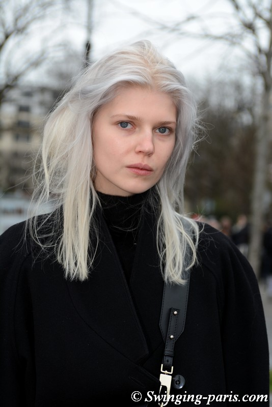 Ola Rudnicka leaving Chanel show, Paris FW 2019 RtW Fashion Week, March 2019