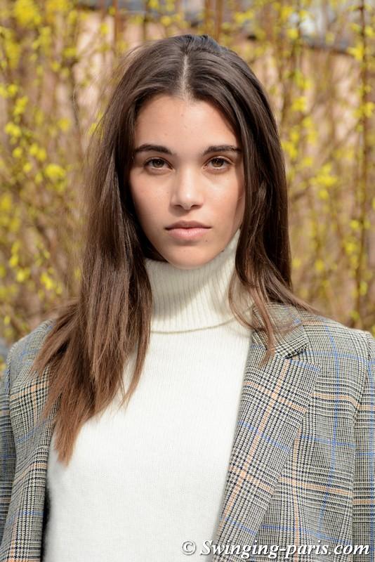 Pauline Hoarau leaving Balmain show, Paris FW 2019 RtW Fashion Week, March 2019