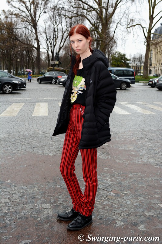 Remington Williams outside Chanel show, Paris Haute Couture SS 2018 Fashion Week, January 2018
