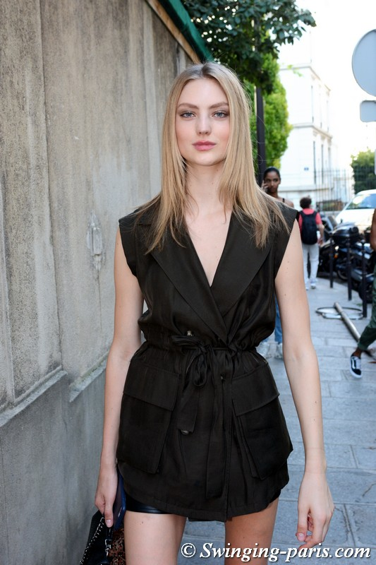 Susanne Knipper outside Zuhair Murad show, Paris F/W 2018 Haute Couture Fashion Week, July 2018