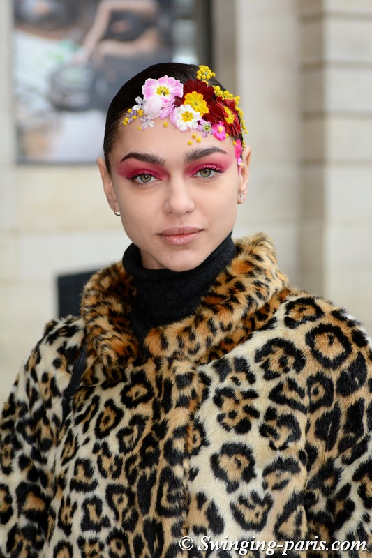 Zhenya Katava (Женя Катава) leaving Alexis Mabille show, Paris Haute Couture SS 2019 Fashion Week, January 2019