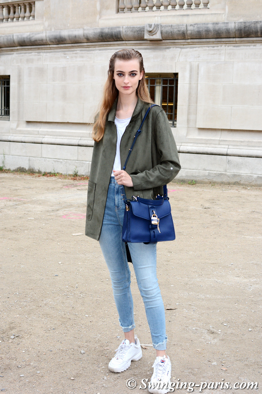 Berit Heitmann outside Chloé show, Paris S/S 2020 RtW Fashion Week, September 2019