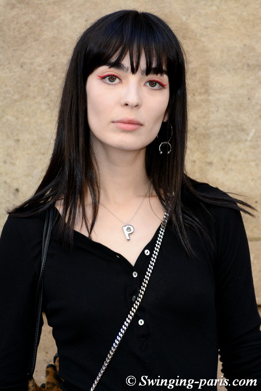 Cristina Piccone outside Guy Laroche show, Paris FW 2019 RtW Fashion Week, February 2019