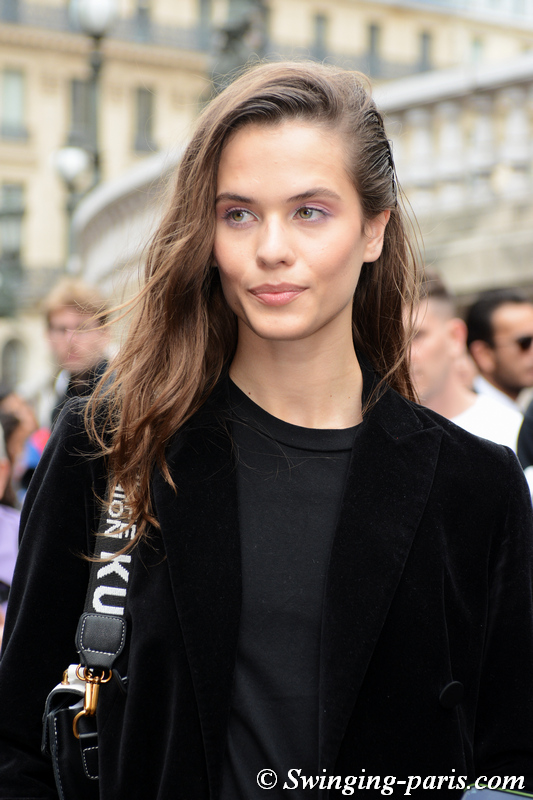 Darya Kostenich leaving Balmain show, Paris S/S 2020 RtW Fashion Week, September 2019