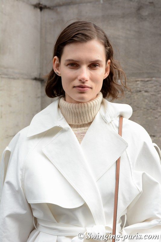 Giedre Dukauskaite leaving Stella McCartney show, Paris FW 2019 RtW Fashion Week, March 2019
