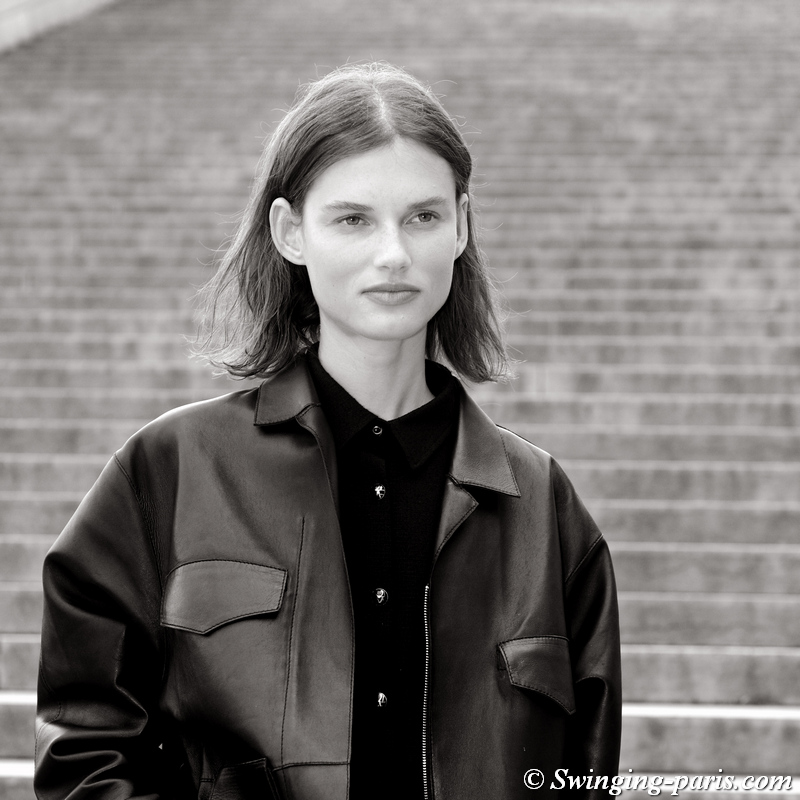 Giedre Dukauskaite leaving Rochas show, Paris S/S 2020 RtW Fashion Week, September 2019