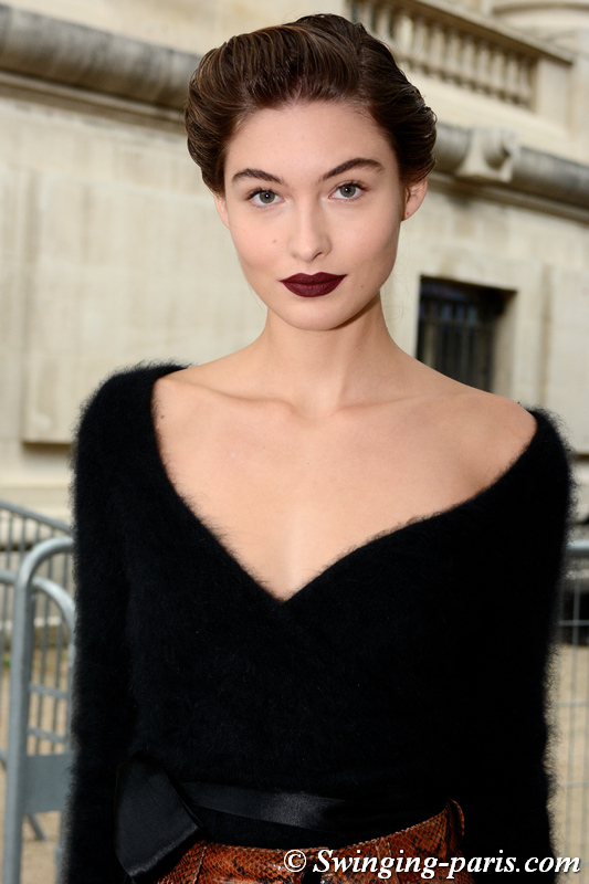 Grace Elizabeth outside Chloé show, Paris S/S 2020 RtW Fashion Week, September 2019