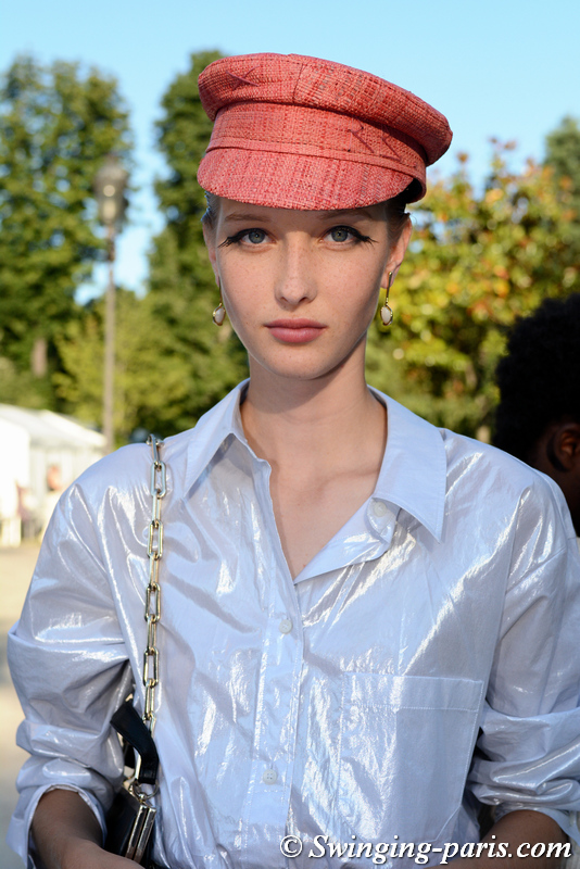 Kateryna Zub outside Armani Privé show, Paris F/W 2019 Haute Couture Fashion Week, July 2019