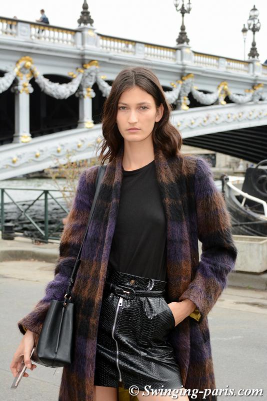 Kely Ferr leaving Y/Project show, Paris S/S 2020 RtW Fashion Week, September 2019