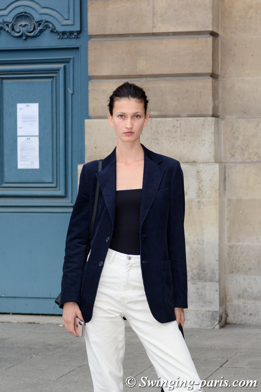 Kely Ferr leaving Guy Laroche show, Paris S/S 2020 RtW Fashion Week, September 2019