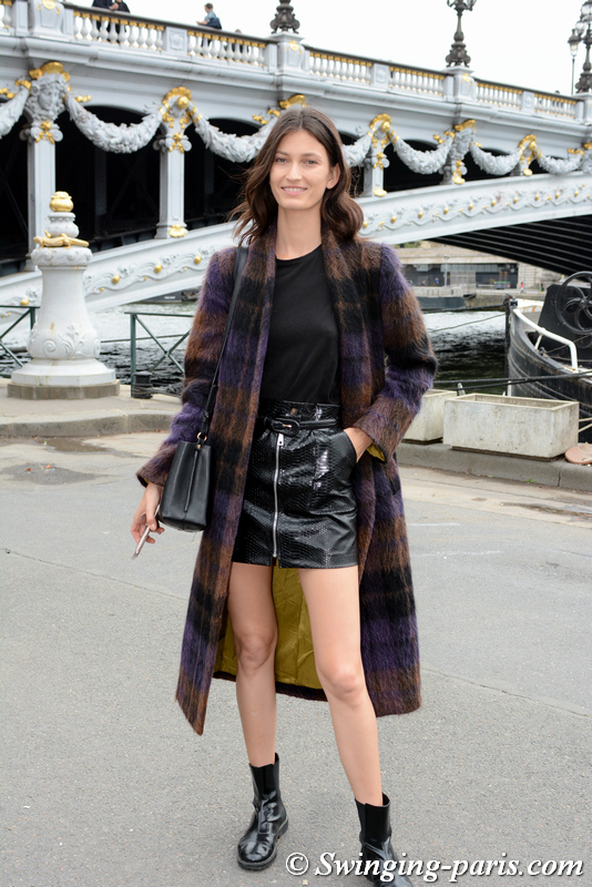Kely Ferr leaving Y/Project show, Paris S/S 2020 RtW Fashion Week, September 2019