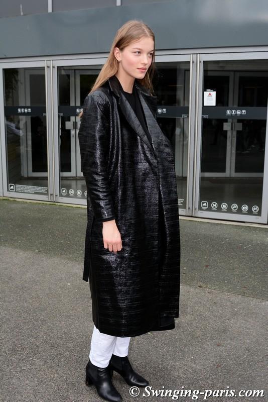 Laurijn Bijnen leaving Balmain show, Paris FW 2019 RtW Fashion Week, March 2019