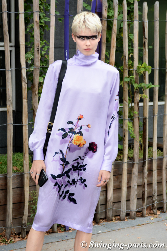 Maike Inga leaving Dries van Noten show, Paris S/S 2020 RtW Fashion Week, September 2019