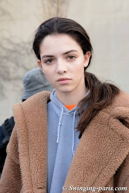 Maria Miguel leaving Lacoste show, Paris FW 2019 RtW Fashion Week, March 2019