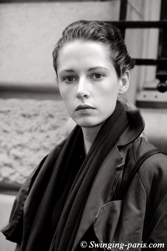 Maria Zakrzewska leaving Kristina Fidelskaya show, Paris FW 2019 RtW Fashion Week, March 2019