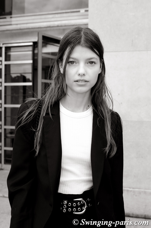 Mathilde Henning leaving Rochas show, Paris S/S 2020 RtW Fashion Week, September 2019