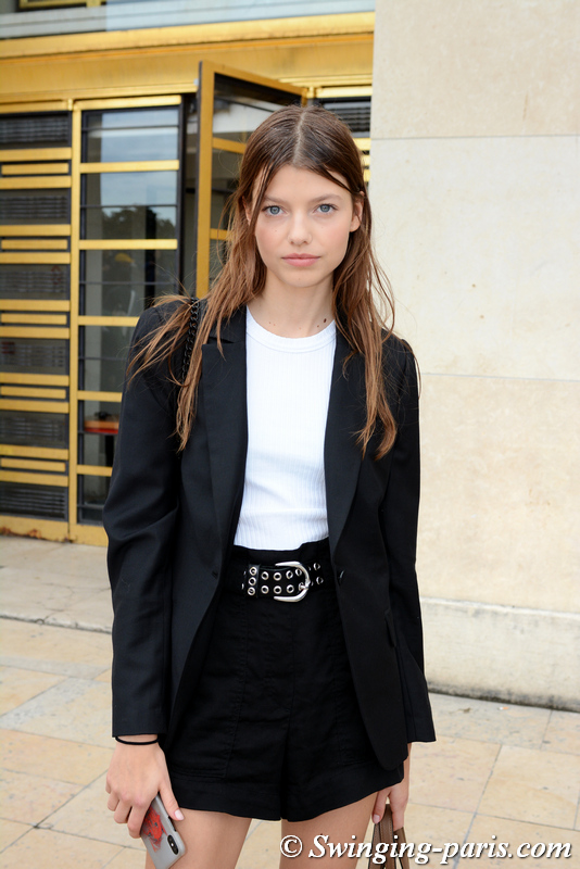 Mathilde Henning leaving Rochas show, Paris S/S 2020 RtW Fashion Week, September 2019